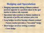 hedging and speculation