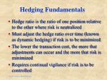 hedging fundamentals
