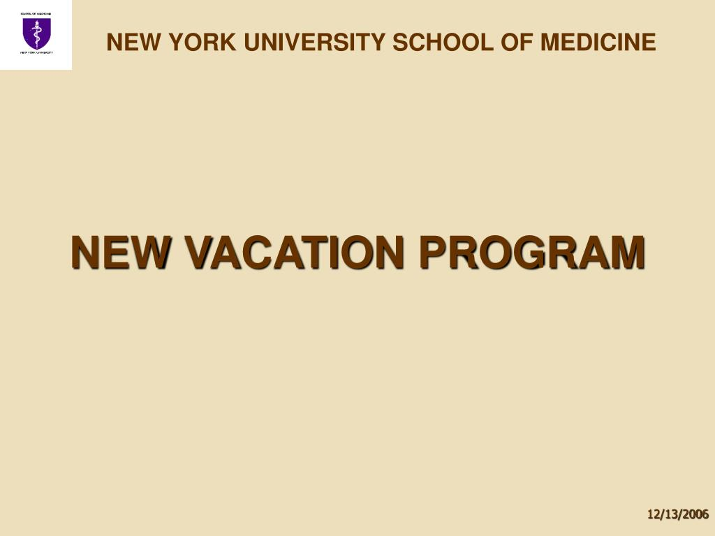 new vacation program l.