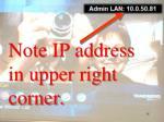 note ip address in upper right corner