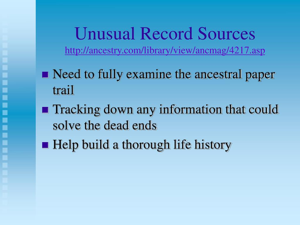 unusual record sources http ancestry com library view ancmag 4217 asp l.