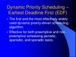 dynamic priority scheduling earliest deadline first edf