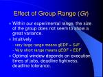 effect of group range gr