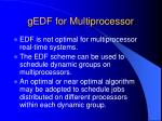 gedf for multiprocessor