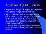 overview of gedf cont d29