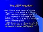 the gedf algorithm