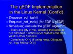the gedf implementation in the linux kernel cont d62
