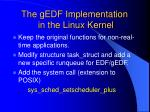 the gedf implementation in the linux kernel