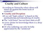 cruelty and culture