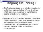 imagining and thinking ii