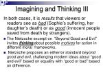 imagining and thinking iii