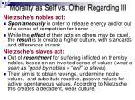 morality as self vs other regarding iii