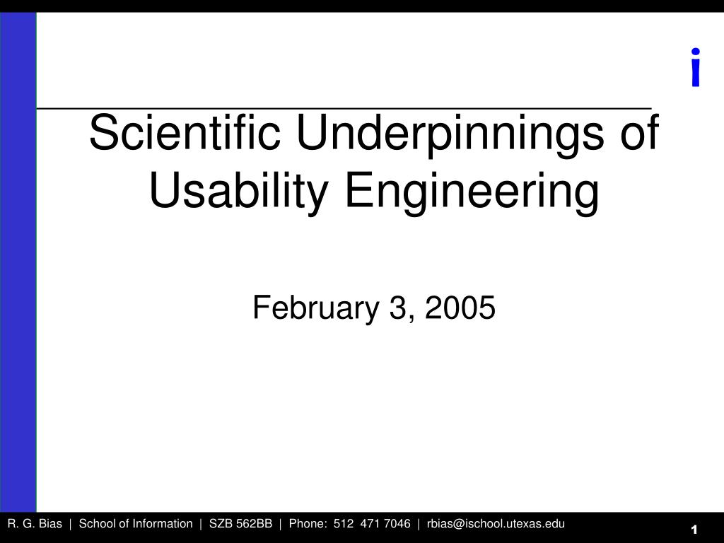 scientific underpinnings of usability engineering l.