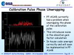 calibration pulse phase unwrapping