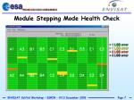 module stepping mode health check