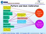 pattern and gain calibration