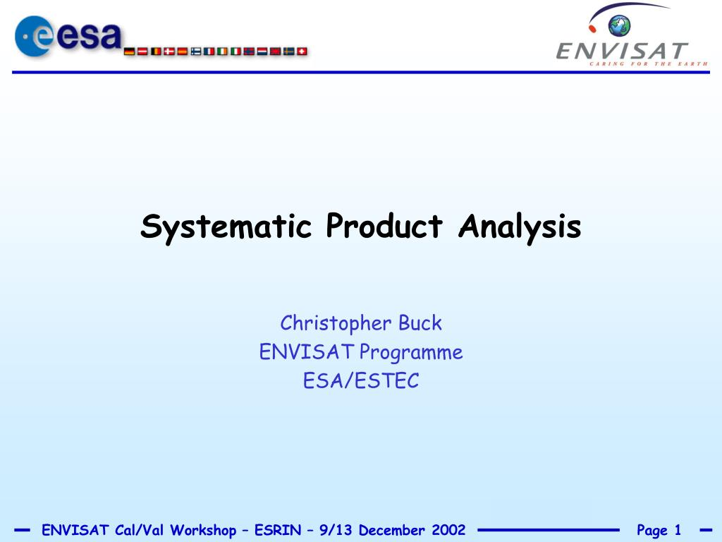 systematic product analysis l.