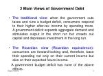 2 main views of government debt