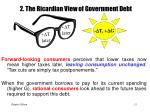 2 the ricardian view of government debt