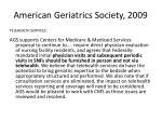 american geriatrics society 2009
