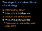ten steps to an intercultural city strategy20