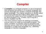 c ompiler