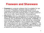 freeware and shareware