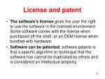 license and patent