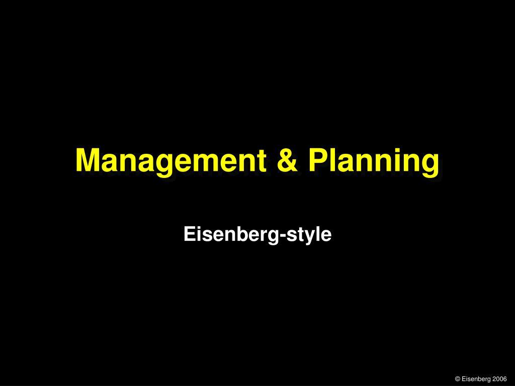 management planning l.