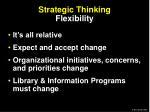 strategic thinking flexibility