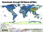 downloads through ee glovis etm