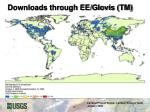 downloads through ee glovis tm
