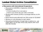 landsat global archive consolidation