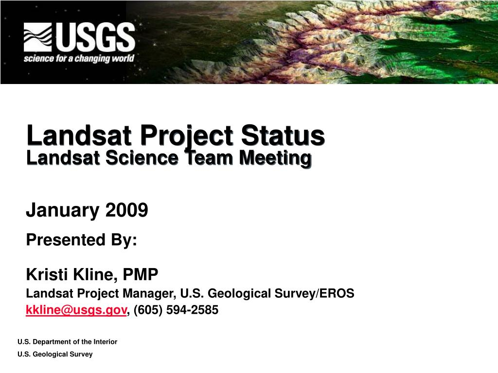 landsat project status landsat science team meeting l.