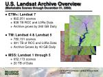 u s landsat archive overview marketable scenes through december 31 2008