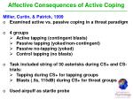 affective consequences of active coping