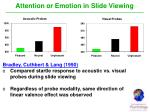 attention or emotion in slide viewing