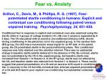 fear vs anxiety