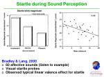 startle during sound perception