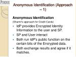 anonymous identification approach 1