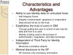 characteristics and advantages