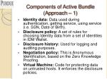components of active bundle approach 1