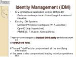 identity management idm