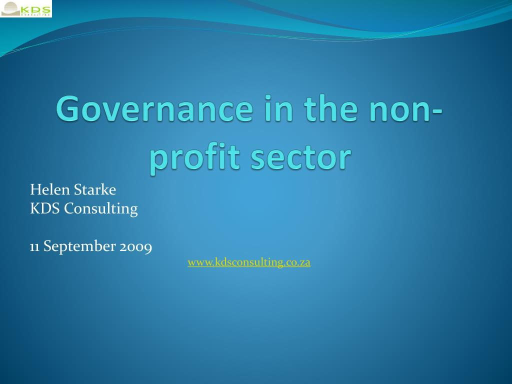 governance in the non profit sector l.