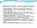 medium sized reasonably funded