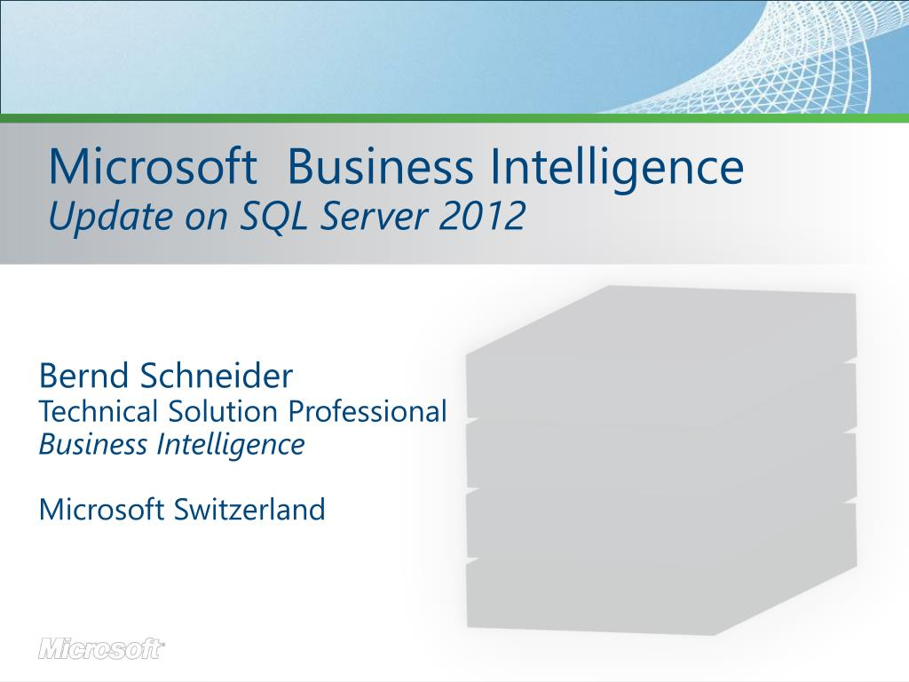 microsoft business intelligence update on sql server 2012 l.