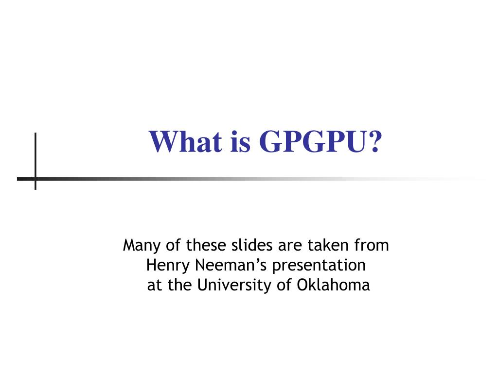 what is gpgpu l.