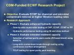 cdm funded ecwf research project