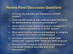 review panel discussion questions