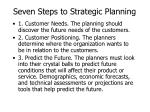 seven steps to strategic planning